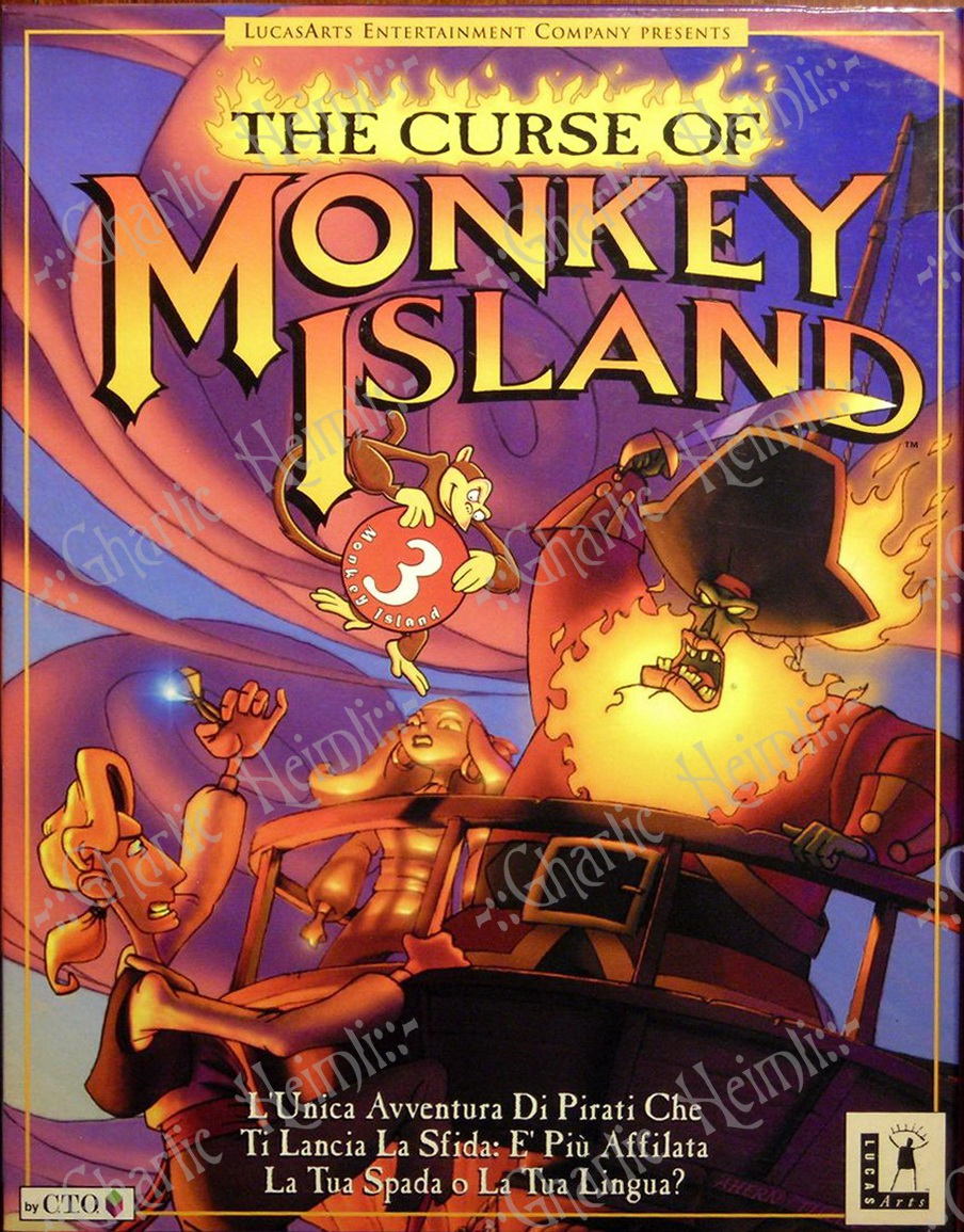 The Curse of Monkey Island Deutsche  Texte, Untertitel, Menüs, Videos, Stimmen / Sprachausgabe Cover